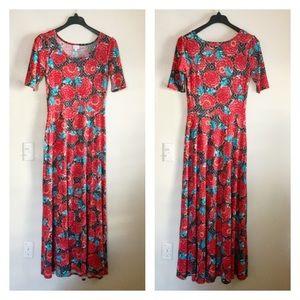 LulaRoe Ana Maxi Floral Dress Size L